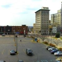 Panorama of Downtown Flint Michigan, Флинт