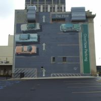 The Flint Journal Overflow Parking Mural, Flint, Michigan, Флинт