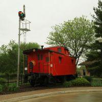 Caboose at Train Station, Holland, Michigan, 2012, Холланд