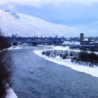 Clark Fork River and the Milwaukee Road station, Миссоула