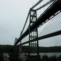 "The ""New""  & ""Old"" Penobscot Narrows Bridge - Bucksport, Maine, Бакспорт"