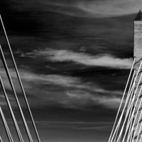 Dramatic B&W of the Penobscot Bridge, Бакспорт