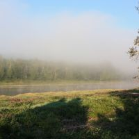 Misty morning on the Aroostook river, Вестбрук