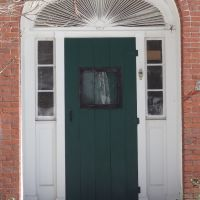 Door, 1836 William Spear House, Built by Thomas Shaw; North Yarmouth Maine, Камберленд-Сентер