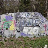 Painted rock, Cape Elizabeth Maine, Кейп-Элизабет