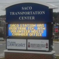 SACO MAINE TRANSPORTATION CENTER SIGN, Сако