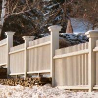 Fence in Bangor, Maine, USA, Хампден