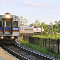 MARC commuter train prepares to leave Frederick, MD, Фредерик