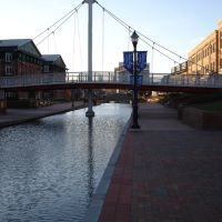 Carroll Creek Promenade, Frederick, Maryland, USA, Фредерик