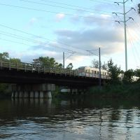 Light Rail crossing the Patapsco River, Балтимор-Хайлендс