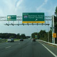 Route 295 At I-895, 8-26-2009, Балтимор-Хайлендс