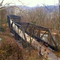 Arizona Avenue trestle bridge, Capital Crescent Trail, Canal St, Washington DC, Брукмонт