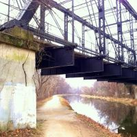 Arizona Avenue trestle bridge, Capital Crescent Trail, C& O Canal, Canal St, Washington DC, Брукмонт