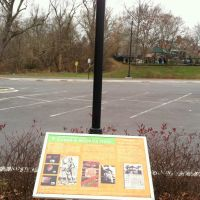 Palisades Recreation Center marker, Glen Echo Trolley path, Palisades, Washington DC, Брукмонт