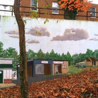 mural, #8 Streetcar Path, Catonsville MD, Катонсвилл