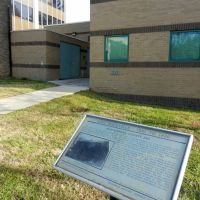 Lost Rockville – 1801 to 1850: Montgomery County Jail marker, 120 Maryland Avenue, Rockville, MD 20850, Роквилл