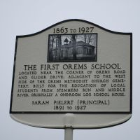 The First Orems School, Россвилл