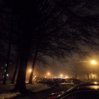 Towson Apartments Night Fog, Таусон