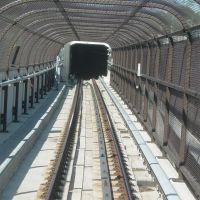 Blue Line track in cages, Уолкер-Милл