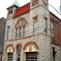 Antietam Fire Station, Fire Company No. 2, Hagerstown Historic District, Jonathan St, Hagerstown MD, built 1895, Хагерстаун