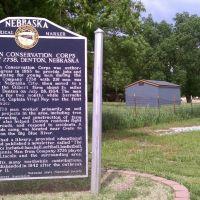 Denton CCC plaque, Дентон