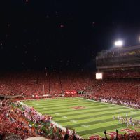 Memorial Stadium During USC Game, Линкольн