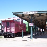 Old caboose at Haymarket, Lincoln, Линкольн