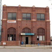 Burlington Northern Santa Fe Railroad Offices and Amtrak Station at McCook, NE, Мак-Кук