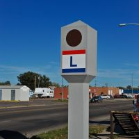 Exagerated Lincoln HIghway Marker, Норт-Платт