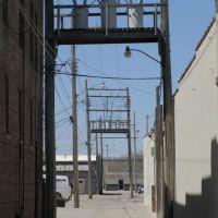 Back alley off N 4th St, Norfolk, Nebraska, Норфолк