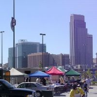 Photo of Downtown Omaha from Qwest Center parking lot during River City Roundup., Омаха