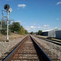 BNSF Railroad in Ralston (Omaha suburb) looking east, OCT.2011, Ралстон