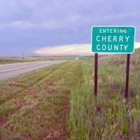 Entering Cherry County,  Nebraska, Скоттсблуфф
