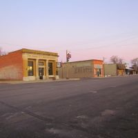 Viewing north-westerly at the Mason City, Nebraska business district from Main St., near its intersection with Crawford St., Спрагуэ