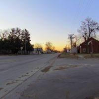 Sunrise in Ansley, Nebraska. Viewing southerly from the intersection of Division St. (Neb. State Hwys. 2 / 92) and the Ansley City Park entrance drive., Спрагуэ