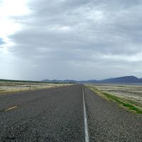 Looking North toward Battle Mountain on Nv. 305.  Elevation 4905 ft., Вегас-Крик
