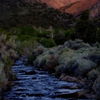 First light, Pine Creek and Middle Summit Ridge, Mt. Jefferson, Вегас-Крик