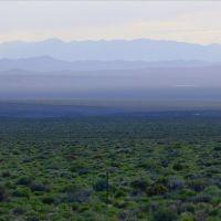 Big Smoky Valley and Southern Toiyabe Range at dusk, Вегас-Крик