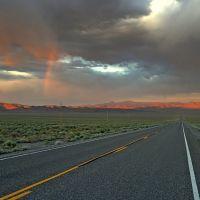 Rainbow, U.S. Route 50 looking toward Hickison Summit, Вегас-Крик