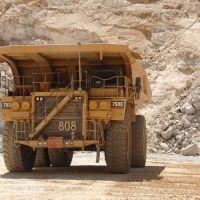 Big truck at the bottom of mine pit - 200704LJW, Калинт