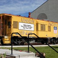 Union Pacific Caboose No. WP 449 at the Nevada State Railroad Museum, Carson City, NV, Карсон-Сити