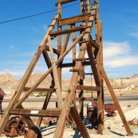 Headframe, Central Nevada Museum, Tonopah, NV, Тонопа