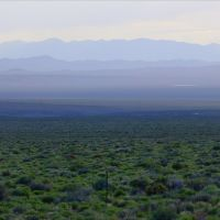 Big Smoky Valley and Southern Toiyabe Range at dusk, Эврика