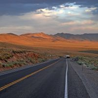 The grade to Hickison Summit, U.S. Route 50, Эврика