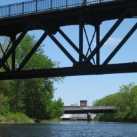Under the Foot Bridge looking toward Downtown, Довер