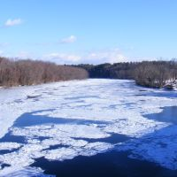 Ice choked Merrimack River., Конкорд