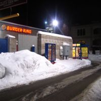 Concord Burger King in Snow and Cold (Winter -- -3° F / -19° C), Конкорд