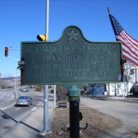 Memorial to Sgt. Maurice St. Germain 1916-1941, Манчестер