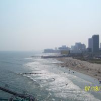 shoreline of Atlantic City,New Jersey USA, Атлантик-Сити