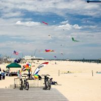 Kite Flying At Belmar Beach, Белмар